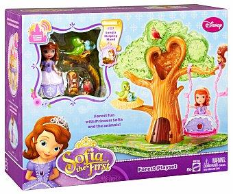DISNEY Muñeca Princesa Sofia en el Bosque, con árbol y columpio 1 Unidad