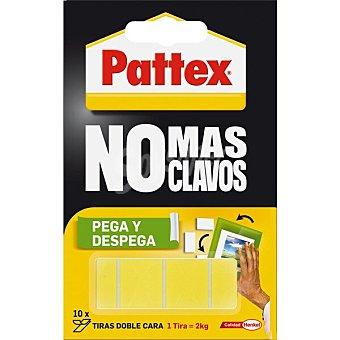 Pattex Cinta adhesiva No Mas Clavos pega y despega precortada 10 tiras doble cara