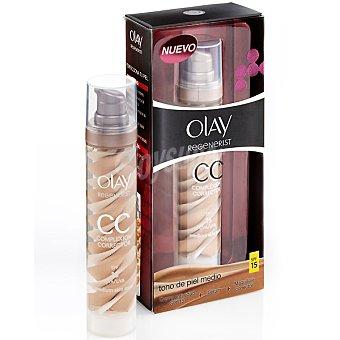 Olay Crema anti-edad FP-15 + serúm + maquillaje corrector dosificador tono de piel medio 50 ml