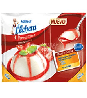 La Lechera Nestlé Preparado de Panna Cotta con salsa de Fresa Nestlé 90 g