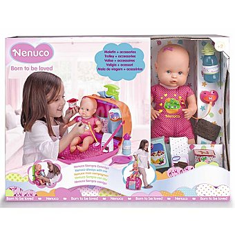 Nenuco Maletín incluye bebé y accesorios, nenuco Siempre conmigo