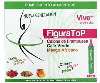 VIVE PLUS SALUD Y VIDA Complemento alimenticio con cetona de frambuesa, café verde y mango africano 12 dosis