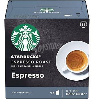 Starbucks Cápsulas café dg espr roast 12 unidades