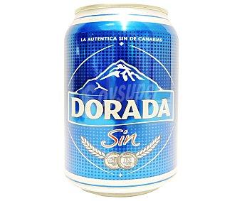 Dorada Cerveza rubia sin alcohol Lata 330 cc