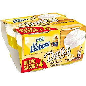 La Lechera Nestlé Vainilla con caramelo y nata Pack 4 unidades 100 g