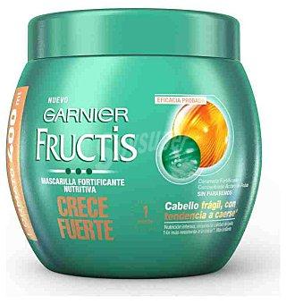 Fructis Garnier Mascarilla fortificante nutritiva Crece Fuerte con ceramida y concentrado activo de fruta para cabello frágil con tendencia a caerse Tarro 400 ml