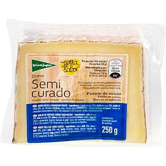 El Corte Inglés Queso castellano semicurado elaborado con leche pasteurizada cuña 250 g