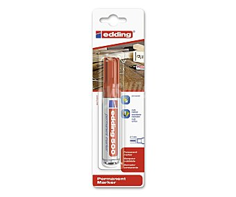 Edding Marcador permanente rojo, para escritura en multisuperficie, con amplia punta biselada de trazo de 2 - 7 milímetros 1 unidad