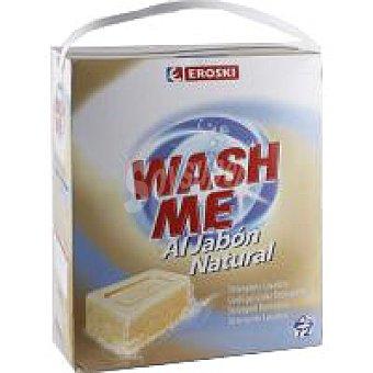 Eroski Detergente en polvo jabón natural Maleta 72 cacitos
