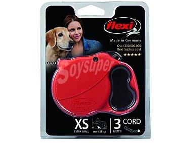 Flexi Correa extensible de 3 metros para perros muy pequños (máximo 8 kilogramos) 1 unidad