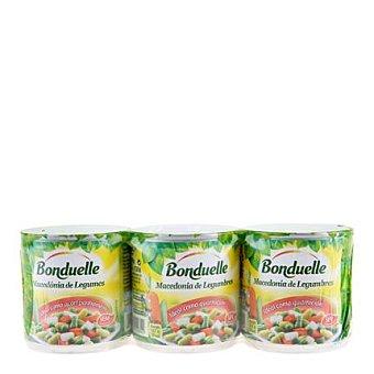 Bonduelle Macedonía de verduras Pack 3x130 g