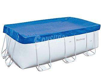 BESTWAY Cubierta solar para piscinas tubulares rectangulares de 412x200x122 centímetros. Medida de la cubierta 450x220 centímetros. Usa la luz del sol para calentar el agua durante el día y mantiene la temperatura durante la noche y en los días nublados 1 unidad