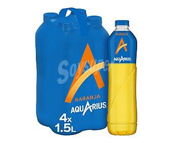 Aquarius Bebida isotónica de naranja Pack 4 botellas x 1,5 l