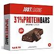 Barritas de proteínas sabor brownie bajo contenido en azúcar packt 3 unidades de 35 g Just Loading