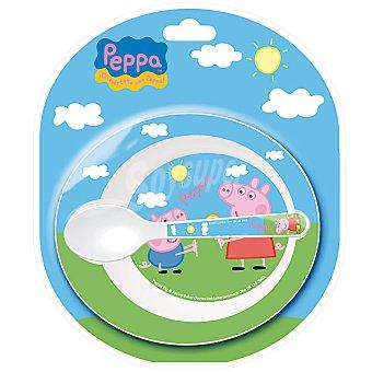 STOR set de cuenco y cuchara de Peppa Pig para microondas
