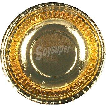 PAP STAR bol de cartón redondo oro 16,5x2,9 cm  paquete 6 unidades