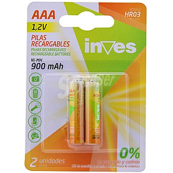INVES HR3 AAA Pilas recargables blister 2 unidades