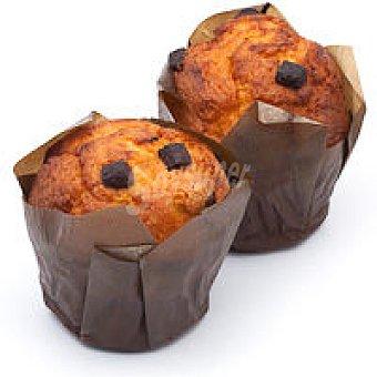 Muffins con pepitas de chocolate Bandeja 150 g