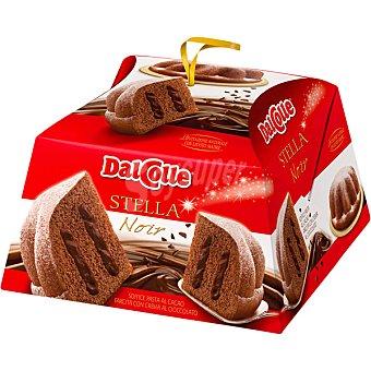 DAL COLLE Stella Noir panettone de cacao relleno de crema de chocolate  estuche 750 g