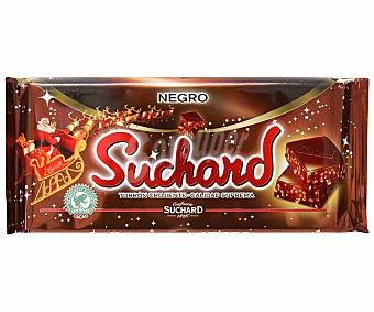 Suchard Turrón de chocolate negro con arroz inflado 260 gramos
