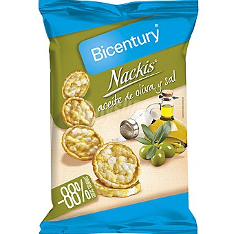Bicentury Tortitas de maíz en aceite de oliva y sal Nackis 70 g