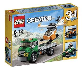 LEGO Juego de construcciones 3 en 1 con 124 piezas, Transporte de helicóptero, ref. 31043, Creator 3 en 1 1 unidad