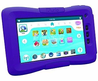 KURIO Clan TV Tablets con Pantalla de 7'' Para Niños con Aplicaciones de Clan, Juegos y Aplicaciones Educativas, Procesador: 1GHz, Almacenamiento: 4 GB Ampliable con microsd , Doble Cámara, Control Parental, wifi, Android 4.0, Incluye Funda Protectora,