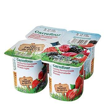 Carrefour Yogur panache 2 de fresa y 2 de frutas bosque Pack de 4x125 g
