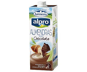 Alpro Asturiana Bebida de almendras con sabor a chocolate Brick 1 l