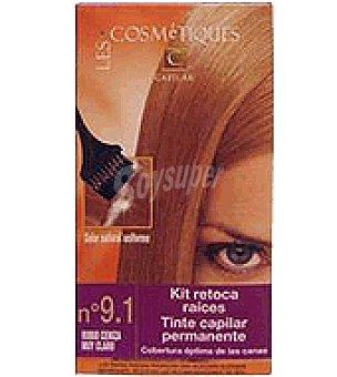 Les Cosmetiques Kit retoca raíces tinte capilar permanente Ceniza claro nº 9.1 1 unidad
