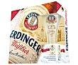 Cerveza de trigo más un vaso de regalo Pack de 5 botellas de 50 centilitros Erdinger