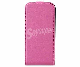 MUVIT Funda con tapa y protector de pantalla para Samsung Galaxy S4 Mini Slim rosa (teléfono no incluido)