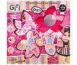 Set caja de maquillaje con 3 niveles y forma de flor Girl. Fashion girl
