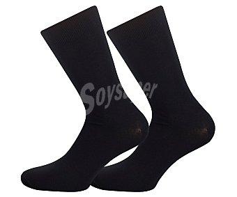 Pompea Pack de 3 pares de calcetines cortos color negro, talla 43/46