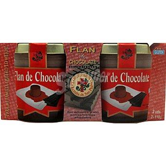 La Ermita de San Pedro Flan de chocolate Pack 2 x 110 g