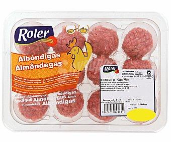 Roler Albóndigas de pollo Bandeja 300 Gramos - 12 Unidades