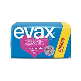 Evax Cottonlike compresas normal alas Bolsa 32 uds