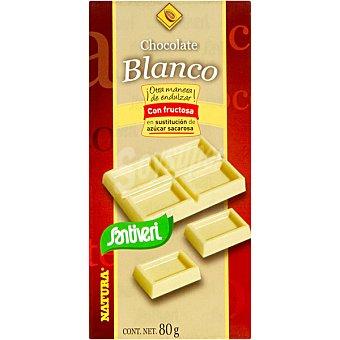 SANTIVERI Natura Chocolate blanco sin azúcar Tableta 80 g