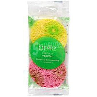 Belle Esponja desmaquillante vegetal Pack 2 unid