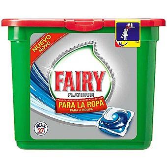 Fairy Platinum Detergente máquina liquido para la ropa envase 27 cápsulas Envase 27 c