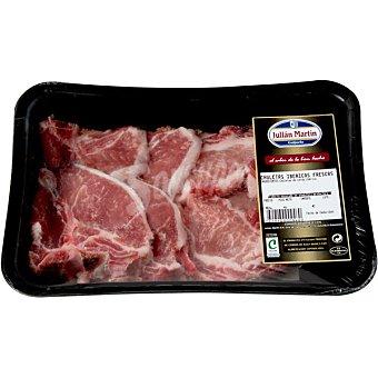 JULIAN MARTIN Chuletas de lomo de cerdo ibérico bandeja peso aproximado 700 g