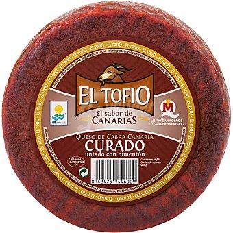 El Tofio Queso de cabra curado con pimentón pieza 1 kg