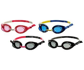 KRAFWIN Gafa de natación modelo Speed, con sistema antivaho y anti uva, montura de espuma EVA con cinta regulable, puente nasal ajustable, lente irrompible y estuche 1 unidad