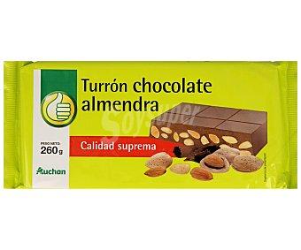 Productos Económicos Alcampo Turrón de chocolate con almendras Tableta 300 g