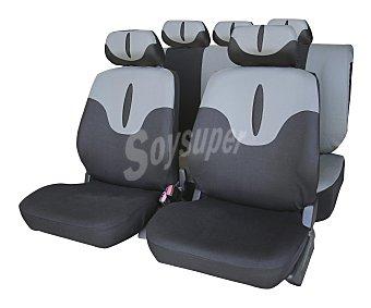 CAR FACTORY Juego de fundas para asientos de automóvil, modelo Jerez, de talla única y fabricadas en poliester de color negro y gris 1 unidad