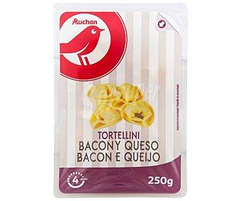 Auchan Tortellinis frescos al huevo, rellenos de bacon y queso 250 g