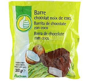 Productos Económicos Alcampo Barritas de chocolate rellenas de coco 300 gramos