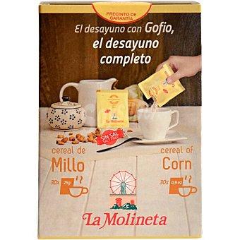 La molineta cereal de millo paquete 750 g 30 monodosis de 25 g