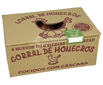 Monegros Huevos camperos cocidos con cáscara clase M-L y categoria A CORRAL DE 6 uds
