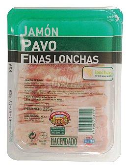 Hacendado Jamón cocido de pavo lonchas finas Paquete 225 g